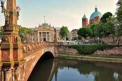 Reflection, Landmark, Waterway, City stock images