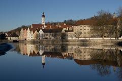 Reflection of Landsberg am Lech Royalty Free Stock Photography