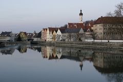 Reflection of Landsberg am Lech Royalty Free Stock Photography