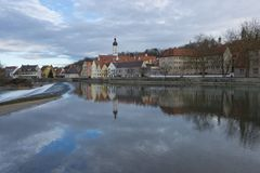 Reflection of Landsberg am Lech Royalty Free Stock Photo