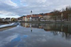 Reflection of Landsberg am Lech Royalty Free Stock Photo
