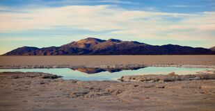 Reflection, large salines. salta and jujuy, argentina