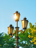 The reflection light in street lamp. (photography Royalty Free Stock Images