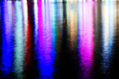 Reflection of lighting on water Royalty Free Stock Photo