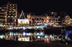Reflection Lights in Malta. Reflection lights in St.Julian - Island of Malta Royalty Free Stock Photos