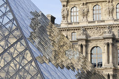 Reflection of the Louvre pyramid Royalty Free Stock Image
