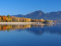Reflection of Low Tatras at late evening Stock Photography