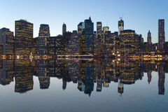 Reflection of Lower Manhattan Royalty Free Stock Images