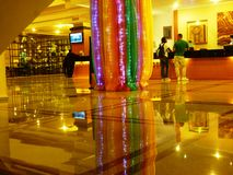 Reflection Luxury Hotel lobby Stock Photo