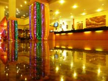 Reflection Luxury Hotel lobby Royalty Free Stock Images
