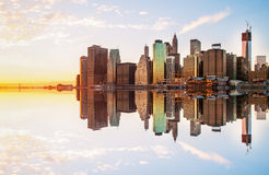 The reflection of manhattan Stock Photography