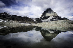 Reflection of the Matterhorn Royalty Free Stock Image