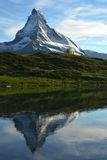 Reflection of Matterhorn in Leisee Stock Photos