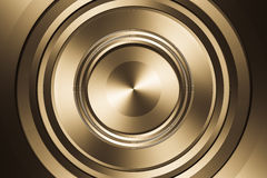 Reflection metal circle. Stock Photo