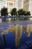 Reflection of Michigan Avenue buildings Royalty Free Stock Images