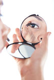 Reflection on mirror of eye Stock Images