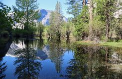 Reflection in Mirror Lake. Landscape in Yosemite National Park, California Royalty Free Stock Image