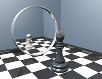 Reflection in mirror, low self-esteem inferiority complex idea. Royalty Free Stock Photos