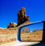 Reflection in mirror  of Monument Valley, Arizona Stock Images