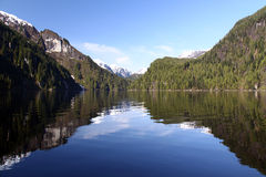 Reflection - Misty Fjords National Monument Royalty Free Stock Photography