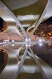 Reflection of a modern bridge Stock Photography