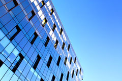 Reflection in modern windows Royalty Free Stock Images