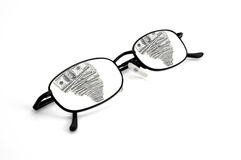 Reflection of Money in Glasses Stock Photography
