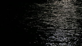 Reflection of moonlight on the sea. stock footage