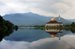 Mosque by the lakeside Stock Photos