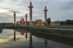 Reflection of Mosque Royalty Free Stock Images