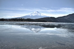 Reflection Mount Fuji Stock Image