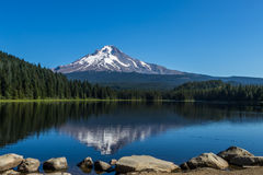 Reflection of Mount Hood in Trillium Lake Oregon. Reflection of Mount Hood in Trillium Lake stock images