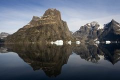Reflection of mountain Stock Images