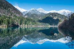 Reflection of the mountain Royalty Free Stock Images