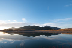 Reflection of mountain. Fraser River Chilliwack BC Canada Stock Photography