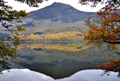 Reflection of a Mountain in a Water in Cumbria Stock Photo