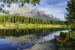 Reflection of mountains in lake Royalty Free Stock Images