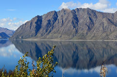 Reflection. Of mountains on lake in New Zealand Royalty Free Stock Images
