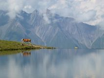 Reflection, Nature, Mountainous Landforms, Mountain royalty free stock images