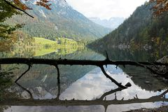 Reflection, Nature, Mountainous Landforms, Water stock photo