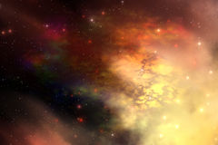 Reflection Nebula. A beautiful nebula out in the cosmos with many stars and clouds royalty free illustration