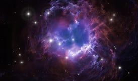 Reflection nebula the site of star formation. Illustration vector illustration