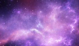 Reflection nebula the site of star formation, nebula radiates by reflected star light Royalty Free Stock Photo
