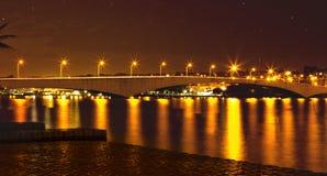 Reflection, Night, Body Of Water, Bridge royalty free stock image