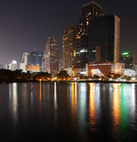Reflection of Night Cityscape. Wide angle view of Reflection of Night Cityscape image Royalty Free Stock Photography