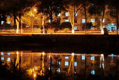 Reflection of Night Royalty Free Stock Photos