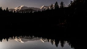 Reflection Night Stars Lake Timelapse 4k stock video footage