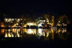 Reflection Night Lake Stock Photography