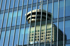Reflection of Observation Tower in Vancouver Stock Images