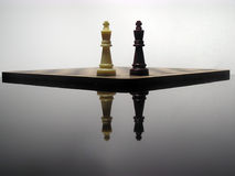 Reflection Of Chess Kings Stock Image